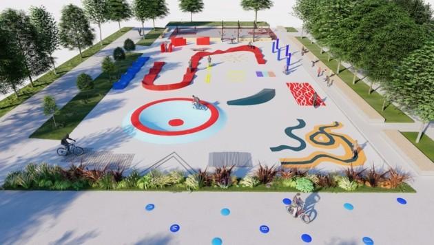 Das Vorbild für einen Linzer Rad-Motorikpark gibt es nun seit September in Kaisermühlen (Bild: Motorik Dreams)