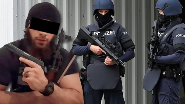 Kujtim F. war einschlägig vorbestraft und erst im Dezember 2019 aus der Haft entlassen worden. (Bild: zVg, APA/Helmut Fohringer, Krone KREATIV)