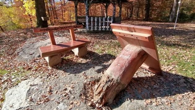 Auch ein Tisch wurde ausgerissen. (Bild: zVg)