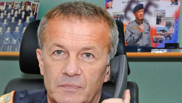 Landespolizeidirektor Popp leitet seit rund 100 Tagen die NÖ-Polizei. (Bild: Crepaz Franz)
