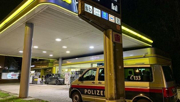 Tatort: Eni-Tankstelle an der Schallmooser Hauptstraße (Bild: Tschepp Markus)