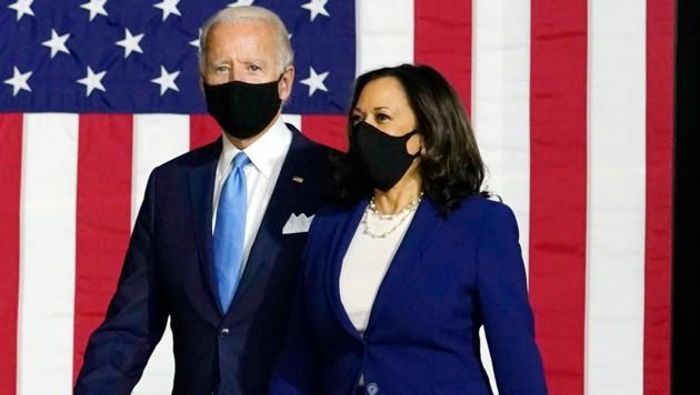 Das neue US-Dreamteam Joe Biden und Kamala Harris (Bild: AP)