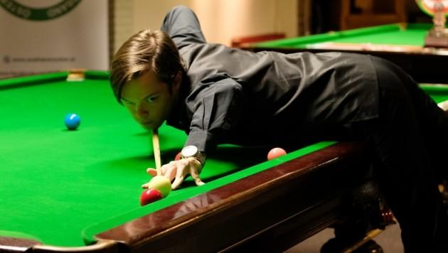 Florian Nüßle fühlt sich reif für seinen ersten Sieg über einen Snooker-Profi (Bild: ÖBU AK)