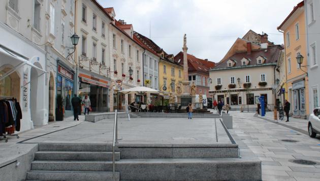 Der Hohe Platz in Wolfsberg. (Bild: Gerlinde Schager)