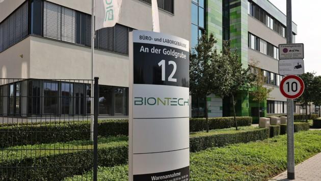 Die Zentrale der Firma Biontech in Mainz (Bild: APA/AFP/Yann Schreiber)