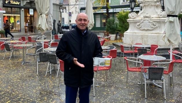 VP-Spitzenkandidat Adl will Weihnachtsflair trotz Corona (Bild: VP St. Pölten)