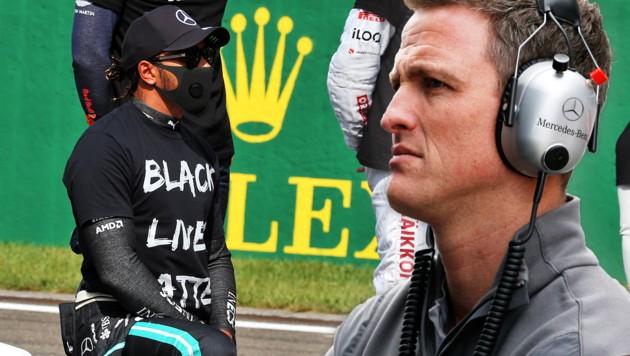Lewis Hamilton (li.) und Ralf Schumacher (Bild: GEPA)