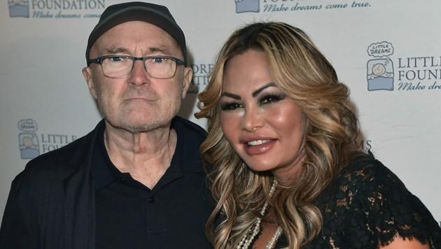 Phil Collins und Orianne Cevey (Bild: APA/2017 Getty Images)