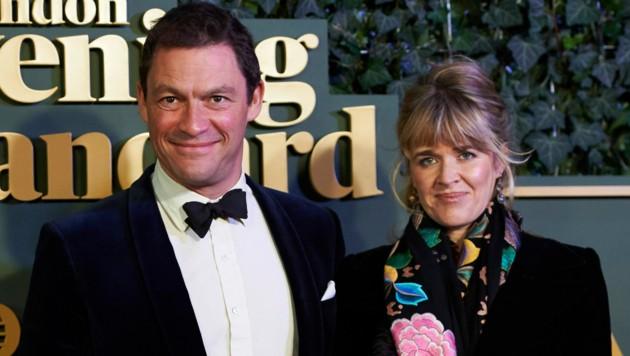 Dominic West und seine Frau Catherine Fitzgerald (Bild: APA/AFP/Niklas Halle'n)