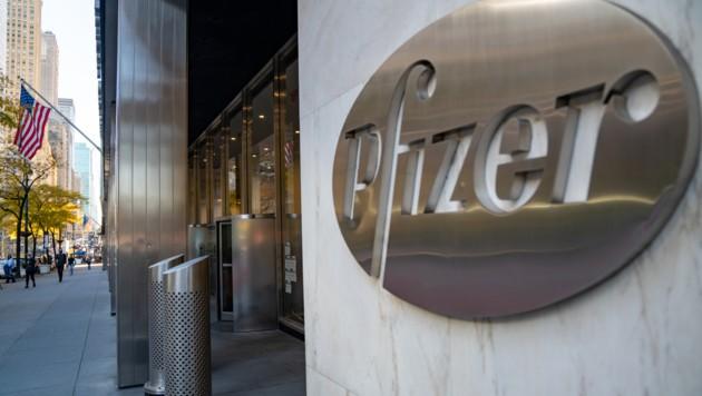 Die Zentrale von Pfizer in New York City (Bild: APA/AFP/Getty Images/David Dee Delgado)