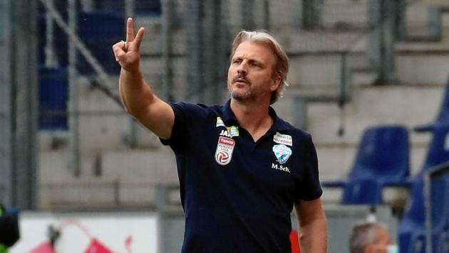 Hartberg-Trainer Markus Schopp gibt die Überlastung der Spieler zu denken (Bild: Kronen Zeitung)