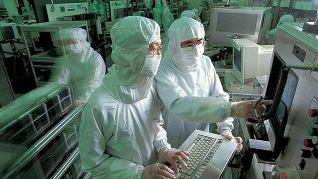 Aufnahme aus einer Prozessorfabrik von TSMC in Taiwan (Bild: Taiwan Semiconductor Manufacturing Co., Ltd.)
