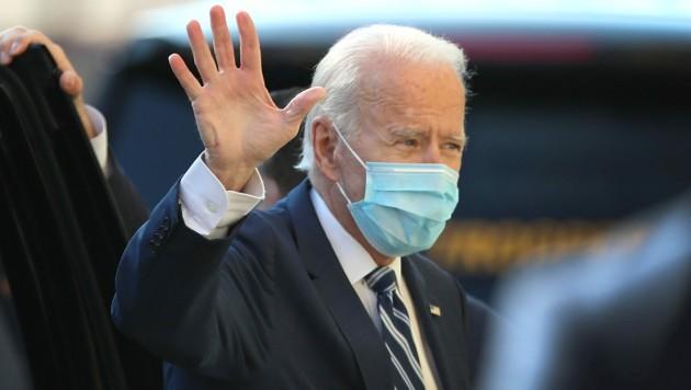 """Bis zum """"Mr. President"""" dauert es noch ein wenig, Joe Biden trägt aber bereits den Titel """"President Elect"""". (Bild: APA/Getty Images via AFP/GETTY IMAGES/JOE RAEDLE)"""