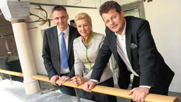 2012 war die Welt zwischen Reinisch, Wassermann und Scheider noch in Ordnung. (Bild: Uta Rojsek-Wiedergut)