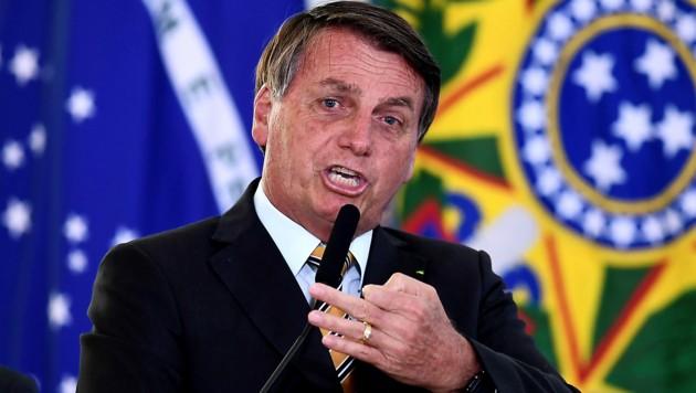 Brasiliens Präsident Jair Bolsonaro (Bild: APA/AFP/Evaristo Sa)