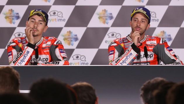 Jorge Lorenzo (li.) und Andrea Dovizioso