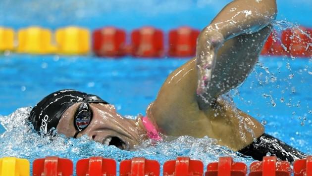 Ex-Schwimm-Star Jördis Steinegger trainiert jetzt den Triathlon-Nachwuchs. (Bild: HANS KLAUS TECHT / APA / picturedesk.com)
