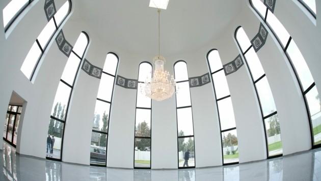 Die Innenansicht der Aufbahrungshalle des Islamischen Friedhofs in Wien. (Bild: APA/HELMUT FOHRINGER)