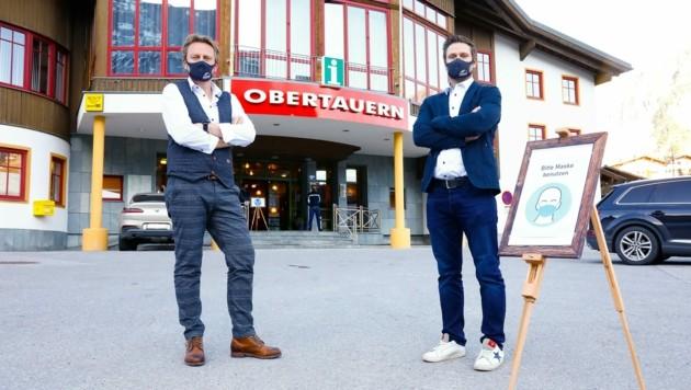 Geschäftsführer Mario Siedler und Obmann Franz Huber wehren sich gegen die Vorwürfe. (Bild: Gerhard Schiel)