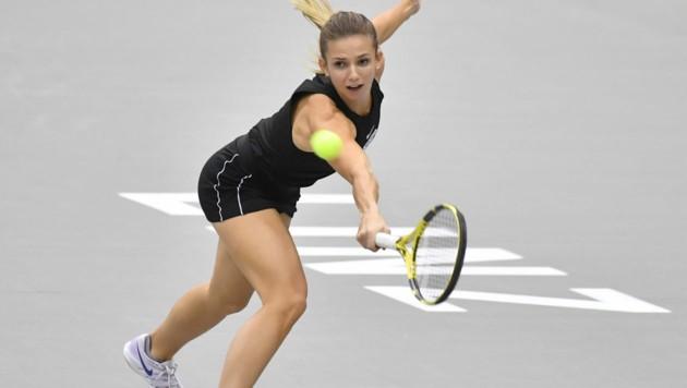 Barbara Haas beim WTA-Turnier in Linz (Bild: APA/BARBARA GINDL)