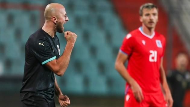 Gernot Trauner jubelt über sein Tor für Österreich gegen Luxemburg. (Bild: GEPA)