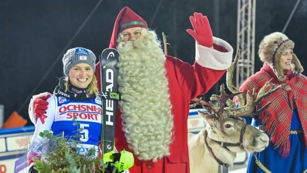 Im finnischen Levi, unweit der Heimat des Weihnachtsmannes, stand Bernadette Schild 2018 als Dritte auf dem Podest. (Bild: EXPA/ Nisse Schmidt)