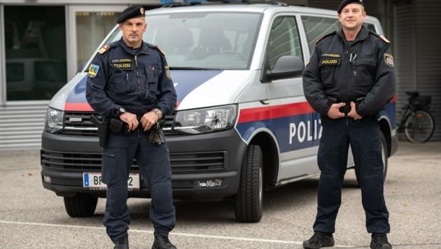 Kompaniechef Gerhard Pichler stand mit Josef Breitenfelder (rechts) im Anti-Terror-Einsatz (Bild: Imre Antal)