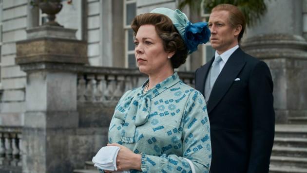 Queen Elizabeth II. (Olivia Coleman) und Prinz Philip (Tobias Menzies)