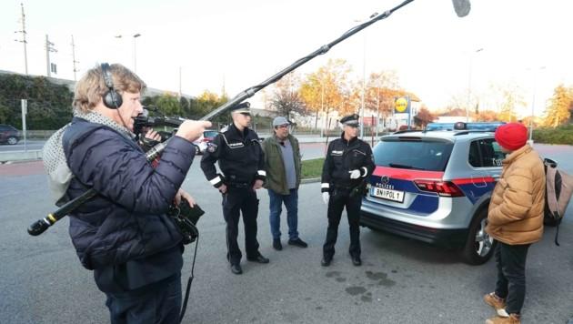 """Die """"Krone"""" begleitete die Stadtpolizei an einem Dreh-Tag (Bild: Judt Reinhard)"""