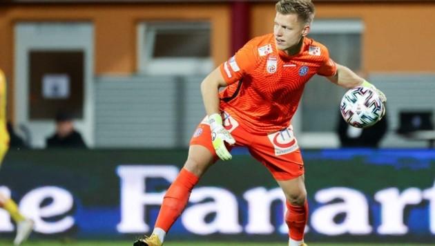 Hat seinen Nummer-1-Status bei der Austria gefestigt: Goalie Patrick Pentz. (Bild: GEPA pictures/ Christian Walgram)
