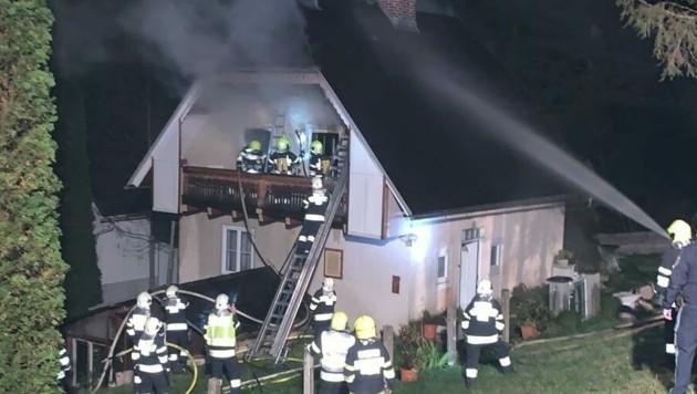 80 Feuerwehrleute waren beim Brand in Ratten im Einsatz. (Bild: Feuerwehr Ratten)