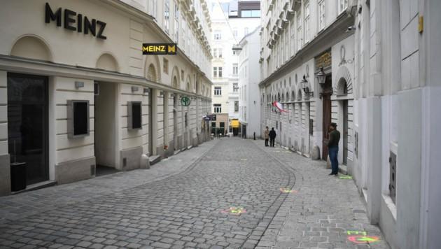 Der Tatort in der Seitenstettengasse (Bild: APA/Helmut Fohringer)