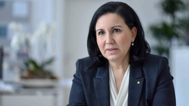 Stefanie Christina Huber ist Vorstandsvorsitzende der Sparkasse Oberösterreich. (Bild: Markus Wenzel)