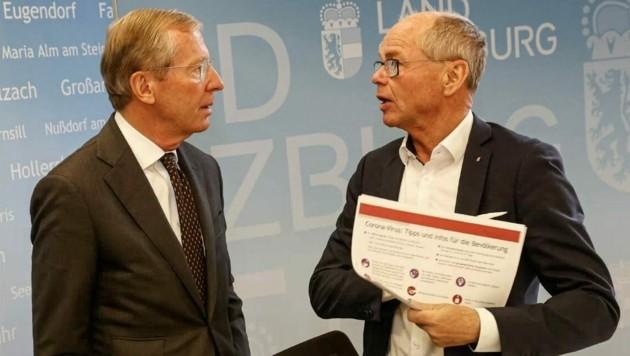 Laut Stöckl (ÖVP, rechts) war zu wenig Zeit für eine Ausschreibung. (Bild: Markus Tschepp)