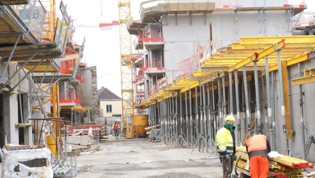 160 Wohnungen entstehen am Karmeliterhof (li.), auch der alte Metro weicht einem Wohnbau (Bild: Gabriele Moser)