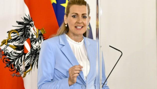 Arbeitsministerin Christine Aschbacher (ÖVP) (Bild: APA/HERBERT NEUBAUER)