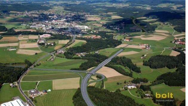 Mühlviertler Schnellstraße S 10 hier bei Freistadt-Süd (Bild: bolt Ingenieurbüro)