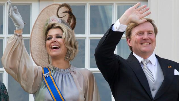 König Willem-Alexander und Königin Maxima (Bild: APA/AP Photo/Peter Dejong)