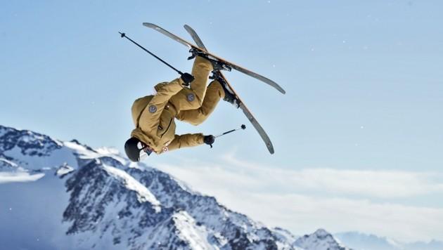 """Das Training am Stubaier Gletscher war für Luki Müllauer fast kitschig. """"Zwei Wochen lang war keine Wolke zu sehen."""" (Bild: Christof Birbaumer Kronenzeitung)"""