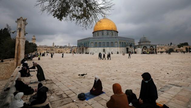 Die Al-Aqsa-Moschee in der Altstadt von Jerusalem. (Bild: AP)