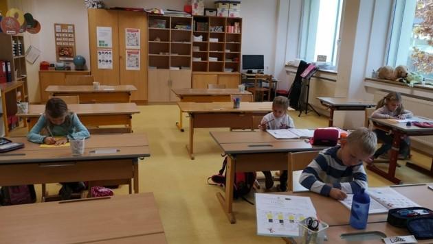 In die Körnerschule in Klagenfurt kamen Dienstag 84 von 370 Volksschülern. (Bild: VS Lind ob Velden)