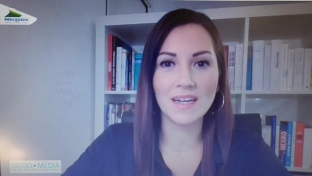 Puls4-Moderatorin Alexandra Wachter führte online durch die Tagung. (Bild: Screenshot Videokonferenz)