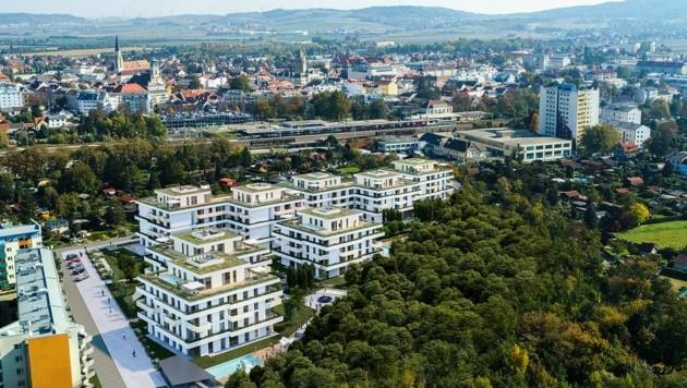 Gartenpark Korneuburg: 300 Wohnungen samt Ärztezentrum (Bild: Mathias Nemmert)