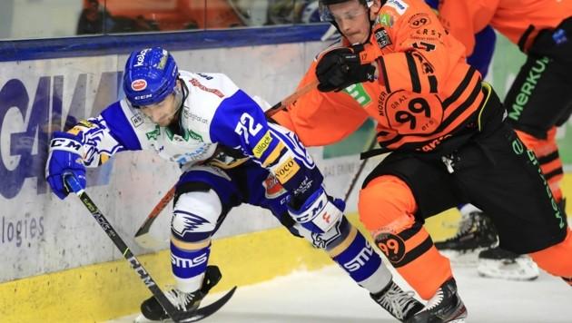Johan Porsberger (re.) war zuletzt gegen Innsbruck Matchwinner der 99ers. (Bild: GEPA pictures)