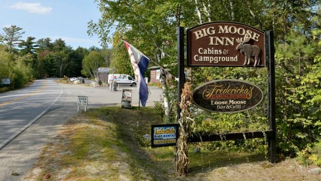 Im Hotel Big Moose Inn fanden die Hochzeitsfeierlichkeiten mit 55 geladenen Gästen statt. (Bild: AFP)