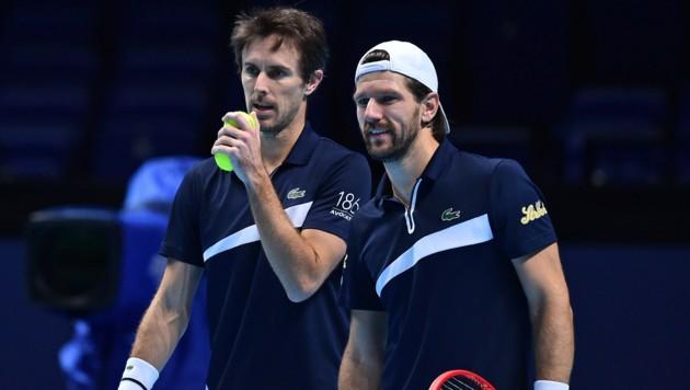 Jürgen Melzer (re.) und sein französischer Partner Edouard Roger-Vasselin (Bild: AFP)