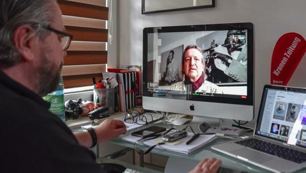 neue Heimatgemeinde (Bild Rechts). Auch per Video-Chat ist Markus Linder ein geistvoller und angenehmer Gesprächsparten. (Bild: Hubert Berger)
