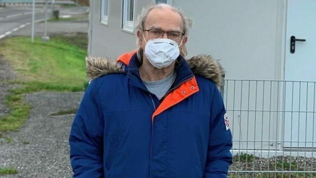 Dialyse-Patient Klaus B. muss für Behandlungen immer über die Grenze fahren. (Bild: Christian schulter)