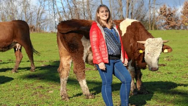 Eva Schulz mit ihren Tieren (Bild: Christian Jauschowetz)
