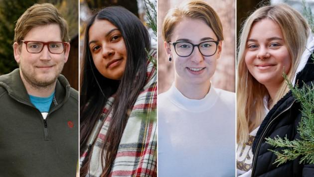 Diese vier Jugendlichen erzählen von ihrer Job-Situation. (Bild: Markus Tschepp/EXPA/JKF/Roland Holitzky)